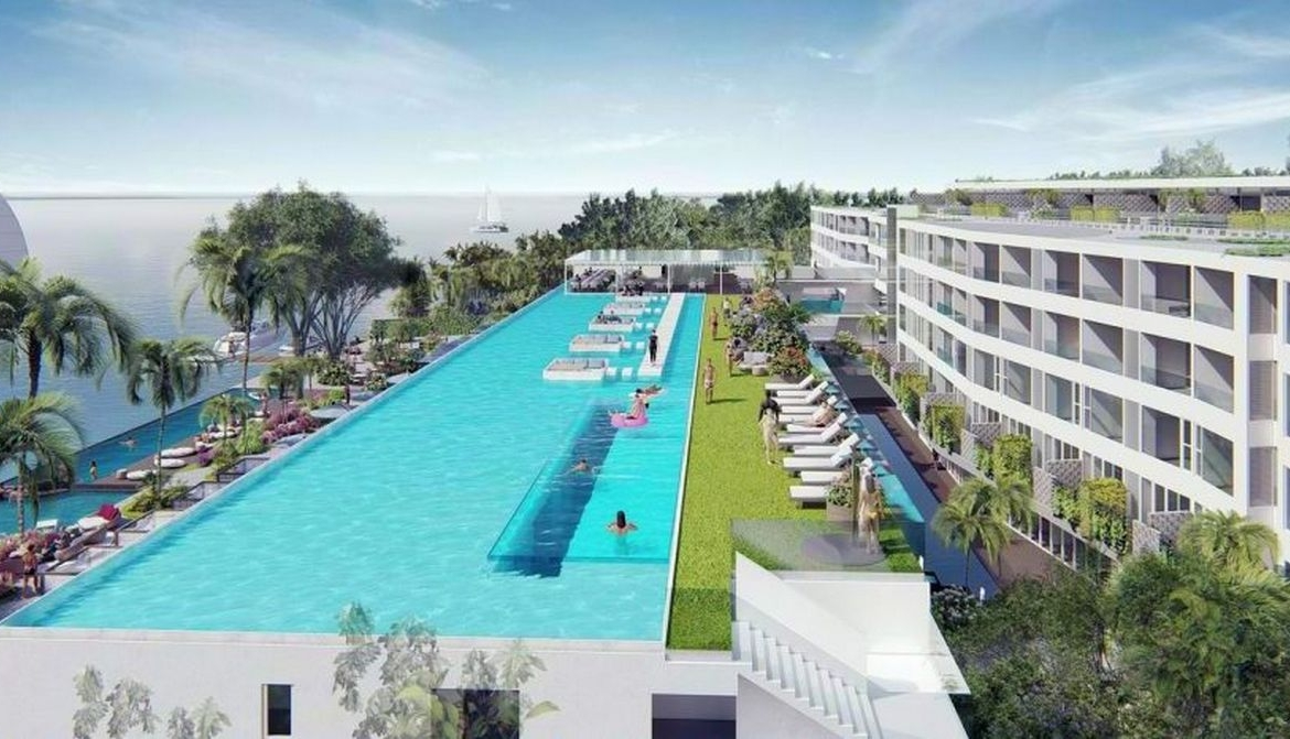 This 2 bedroom / 2 bathroom Apartment for sale is located in Chalong on Phuket