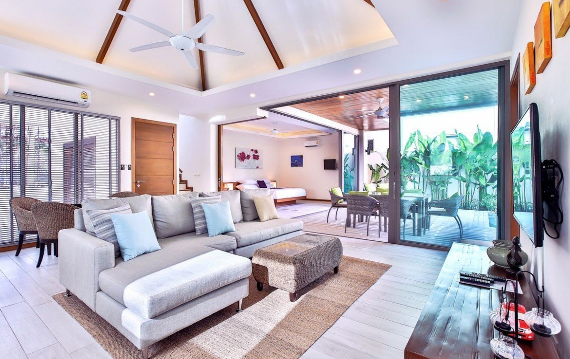 This 4 bedroom / 4 bathroom Villa for sale is located in Natai on Phuket